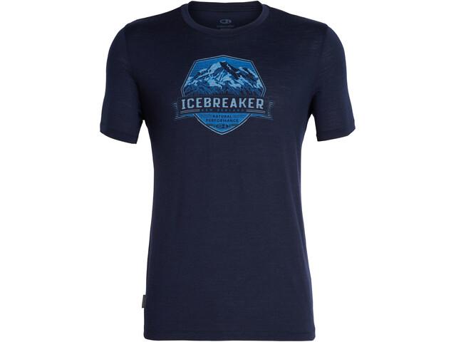 Icebreaker Tech Lite Cook Crest SS Crewe Top Men, midnight navy